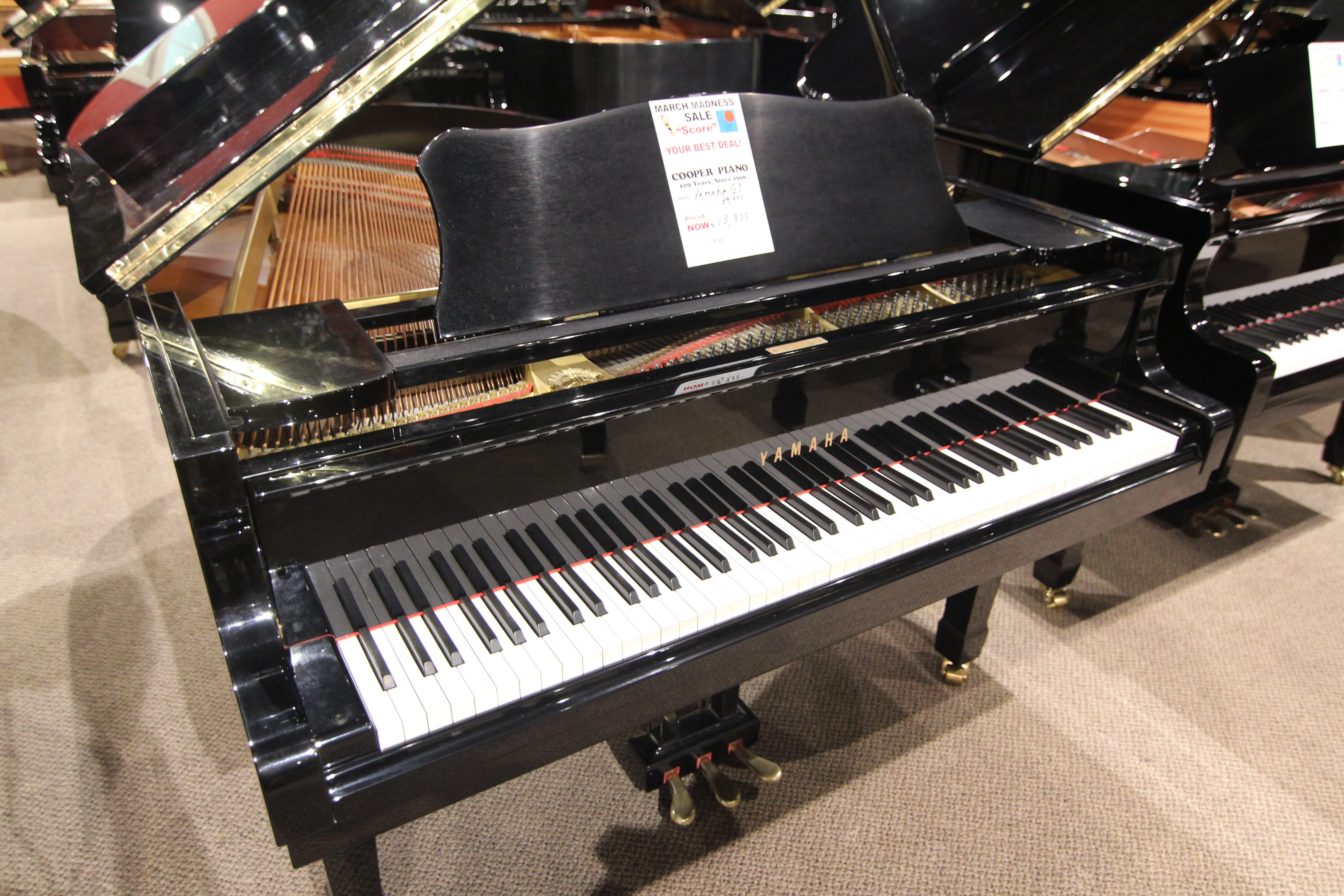 Yamaha g3 grand piano cooper piano for What size is a grand piano