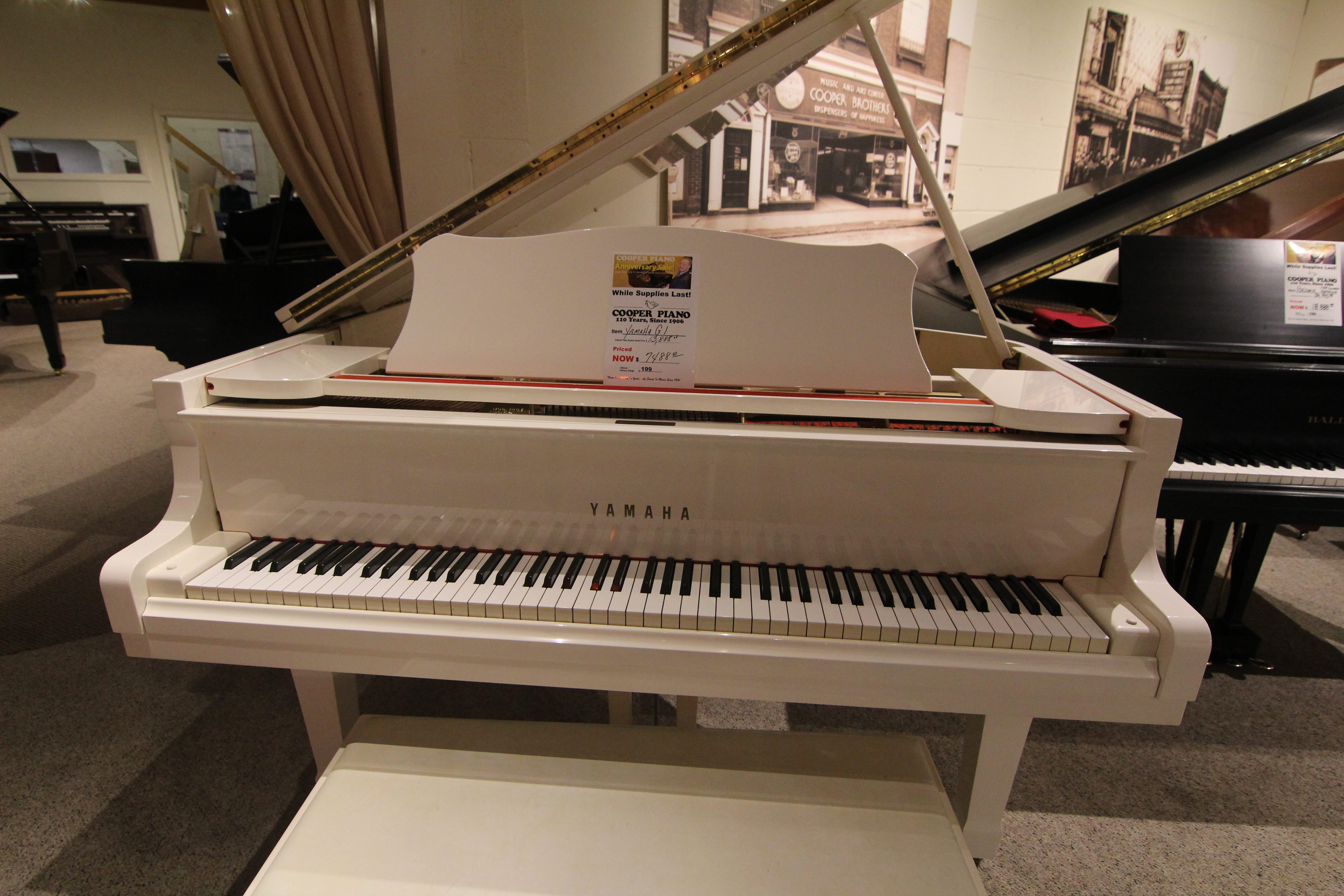 Yamaha g1 grand piano cooper piano for White yamaha piano