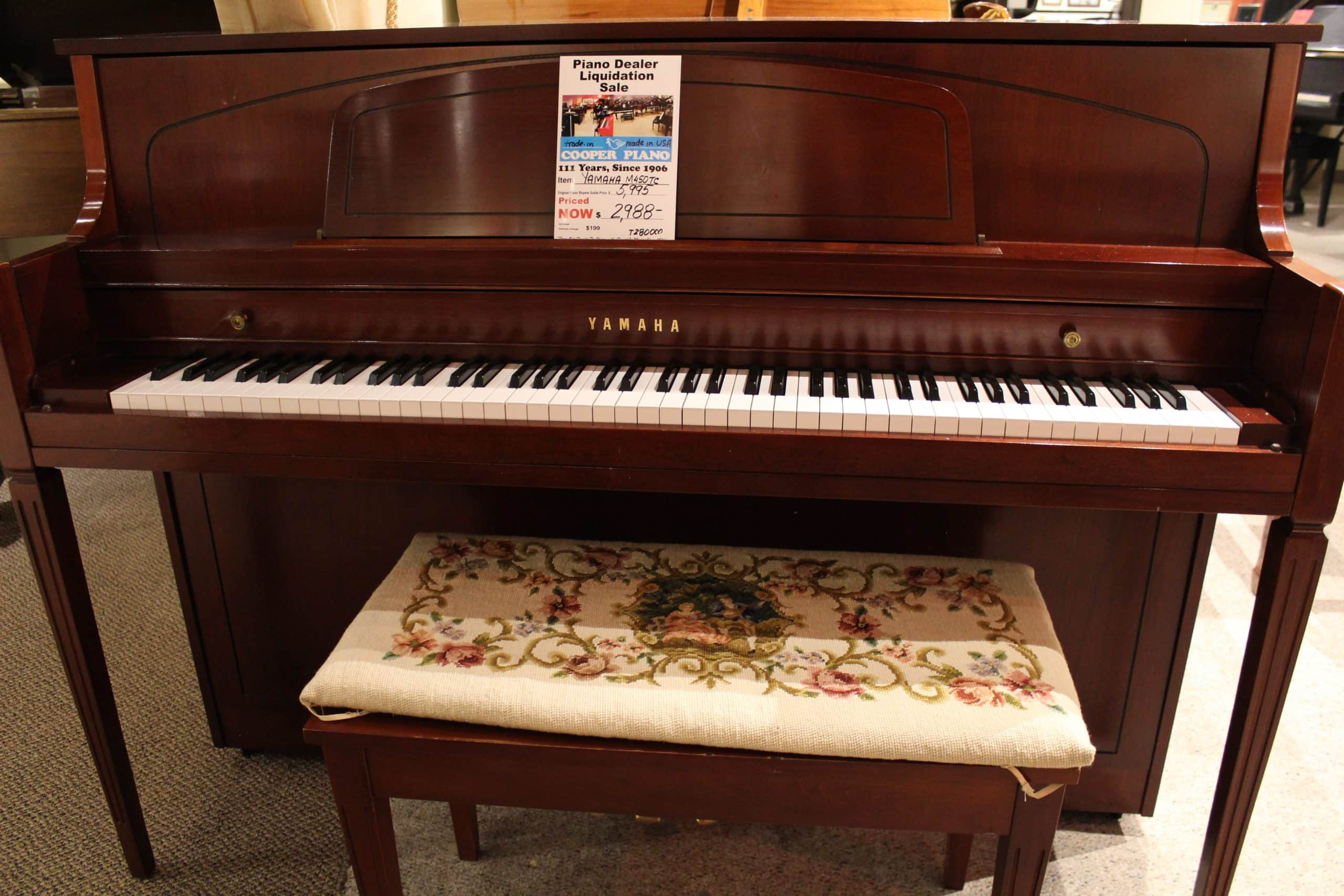 Yamaha m450 console piano cooper piano for Yamaha console piano prices