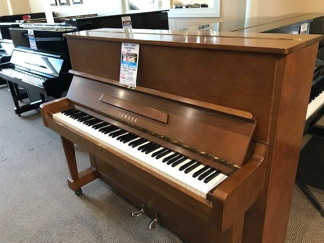 Yamaha u1 walnut upright piano cooper piano for Yamaha u1 professional upright piano